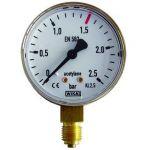Μανόμετρο ρυθμιστών αερίων 0-2.5 ασετυλίνης WIKA
